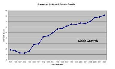 Breeding 2006 growth graph